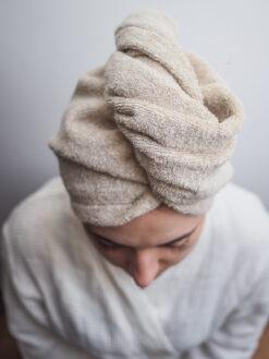 turban do włosów len