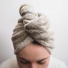 lniany turban frotte