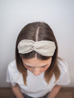 Lniana opaska do włosów