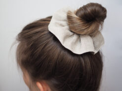 lniana gumka do włosów scrunchie