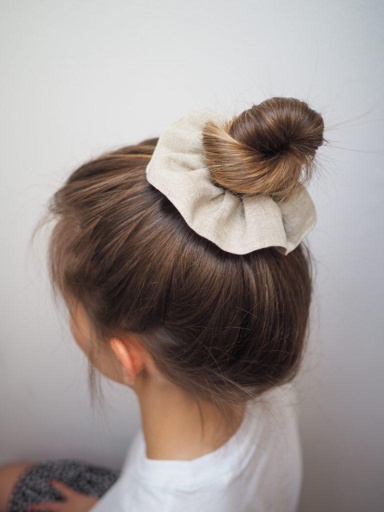 linen hair scrunchie