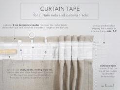 curtain tape, heading tape, pleating tape