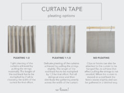 curtain tape-pleating options