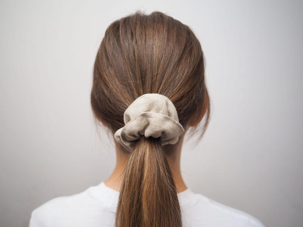 lniana gumka do włosów