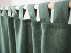 Grüne schwere Leinenvorhänge