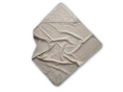 lniany ręcznik frotte z kapturkiem