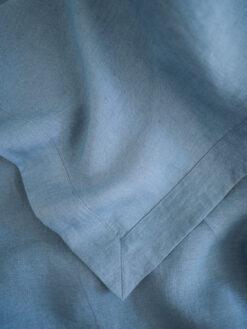 Blau Leinen Tischdecke