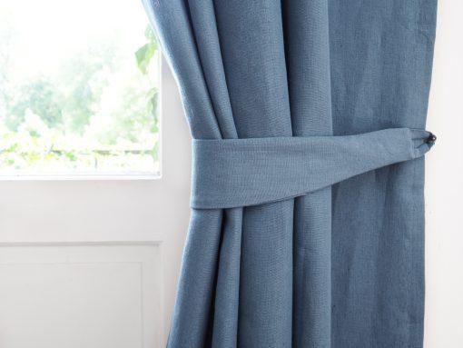 szarfa do zasłon medium dusty blue