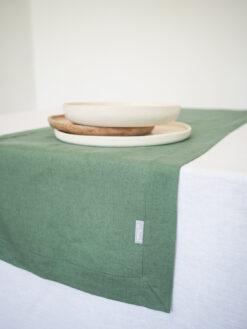 zielony bieżnik lniany